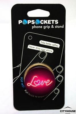 PopSockets Single Phone Grip PopSocket Universal Phone Holder Love (Lovely Single)