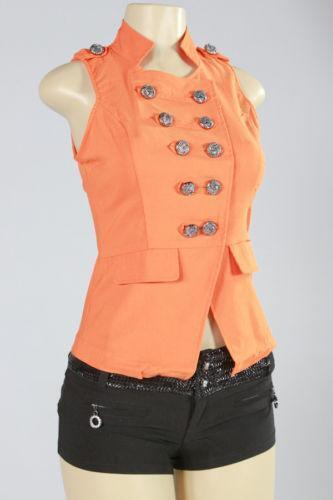 Orange Down Vest Ebay