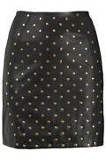 TOPSHOP Black Leather Skirt