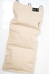 Wing Chun Kung Fu Wall Strike Canvas Bag Natural 3 Sections Iron Palm Makiwara