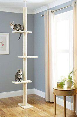 Cat Tree Floor to Ceiling 240cm-285cm X-Large Luxury Activity Scratching Tree