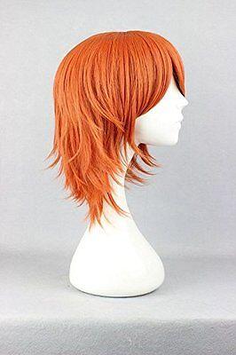 One Piece Nami Cosplay Perücke wig Kostüm Anime Kurz Orange Karneval - One Piece Anime Kostüm