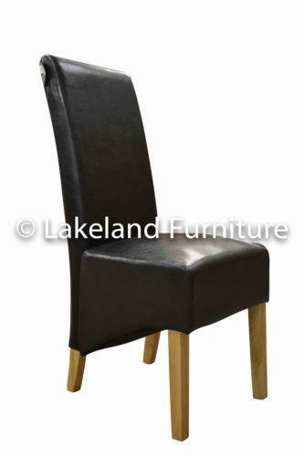 High Back Leather Dining Chairs Ebay