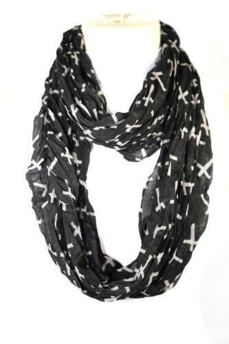 black and white infinity scarf ebay
