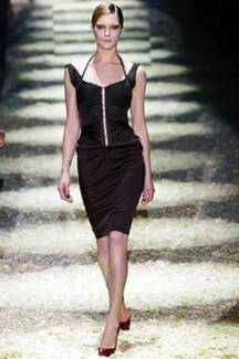 HEAVENLY FW2003 TOM FORD GUCCI CORSETTED BLACK SILK RUNWAY DRESS! Melbourne CBD Melbourne City Preview
