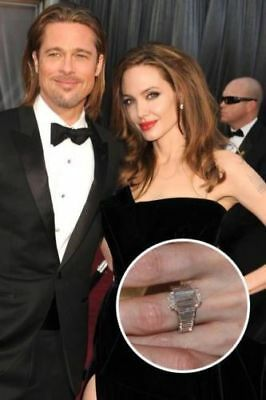 Celebrity Angelina Jolie Inspire Engagement Wedding Ring In 925 Sterling Silver ()