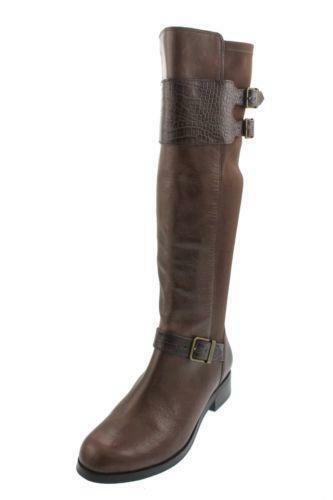 brown knee high buckle boots ebay