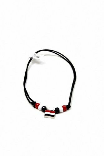 YEMEN  COUNTRY FLAG SMALL METAL NECKLACE CHOKER .. NEW
