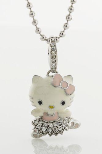diamond hello kitty necklace