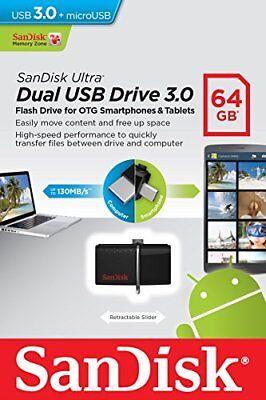 Sandisk 64Gb Otg Dual Ultra Usb 3 0 Micro Flash Thumb Drive Memory Sddd2 064G