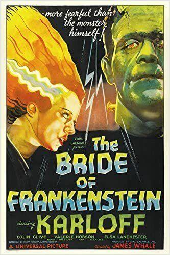 BRIDE OF FRANKENSTEIN - CLASSIC MOVIE POSTER - 24x36 HORROR 53238