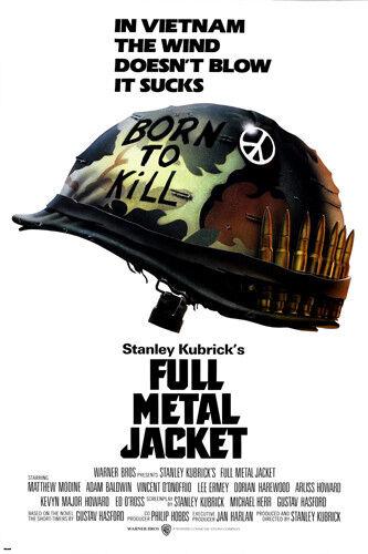 KUBRICK'S full metal JACKET movie poster VIETNAM war matthew