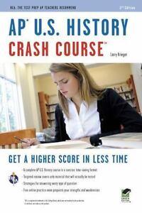 Advanced Placement AP Crash Course AP U. S. History By Larry Krieger... - $1.99