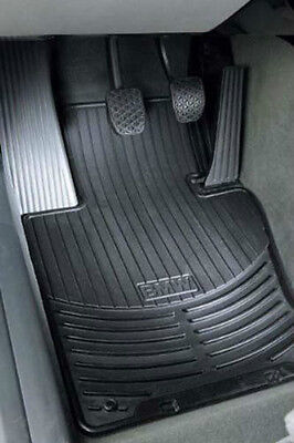 BMW Black Rubber Floor Mats 2000-2006 3 Series Sedan Cpe FRONT ONLY 82550151192