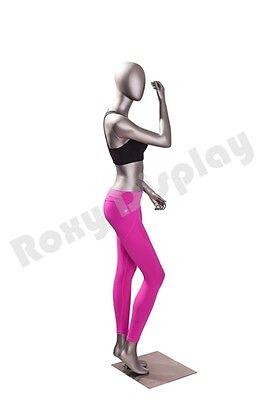 Female Fiberglass Egghead Athletic Style Mannequin Dress Form Display Mc-jsw05