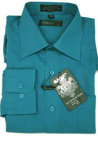Mens Teal Dress Shirt Ebay