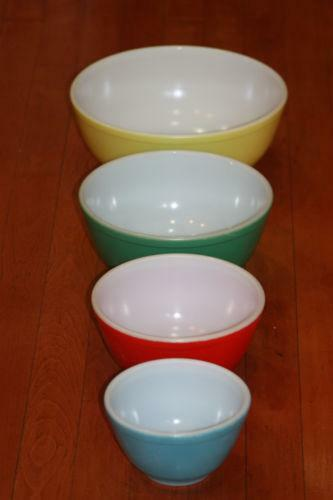Colored Glass Bowls Ebay