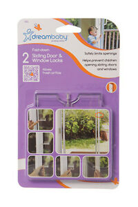 DreamBaby-Sliding-Door-Window-Fold-Down-Lock-2pk-Child-Proof-Safety-L806