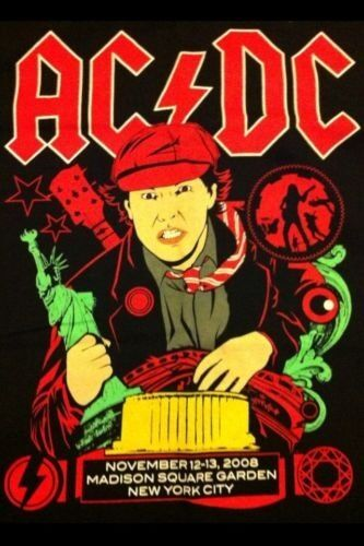 AC/DC Black Ice  Concert ShirtMadison Square Garden XL NEW MINT RARE