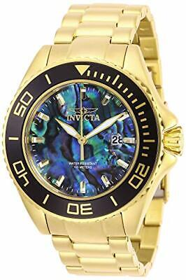 Invicta Men's 28751 Pro Diver Quartz 3 Hand Blue Dial Gold Stainless Steel Watch