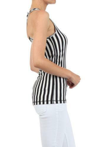 vertical black and white striped top ebay