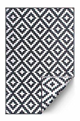 Indoor/Outdoor Recycled Plastic Floor Mat/Rug Reversible Weather & UV Resistant