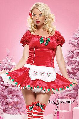 CANDY CANE CUTIE SWEET CHRISTMAS GENUINE LEG AVENUE COSTUME 8 10 12 SANTA GROTTO Candy Cane Cutie Costume