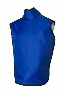 Dental Radiation Lead X-ray Apron W Collar Hanging Loops Lightweight Adult Blue