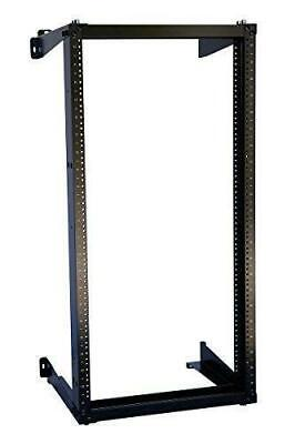 15 Inch Open Frame (22U Wall Mount Open Frame 19'' Server Equipment Rack Threaded 15 inch depth)