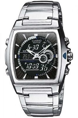 Casio Edifice Chronograph Alarm - Casio EFA120D-1AV, Edifice Combo Silvertone Watch, 100 Meter WR, Chronograph