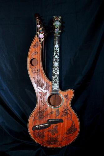 harp guitar ebay. Black Bedroom Furniture Sets. Home Design Ideas