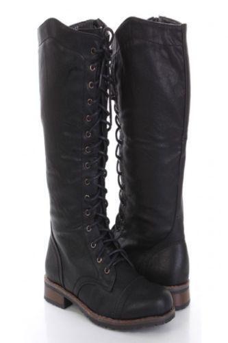 Womens Black Combat Boots | eBay