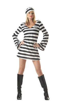 Sexy Convict Chick Adult Womens Halloween Costume](Womens Convict Costume)