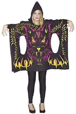 PONCHO Mädchen  Katze SCHWARZ ab 14 Jahre ; Halloween Fasching