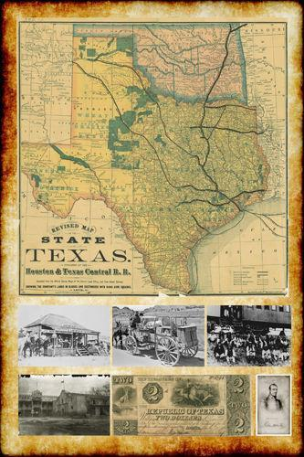 Vintage Texas Map Ebay