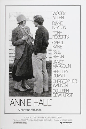 ANNIE HALL movie poster diane KEATON woody ALLEN funny