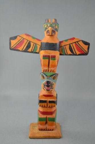 Carved Totem Pole Ebay