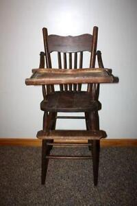 vintage wood baby high chair antique high chairs wooden