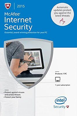 Mcafee Internet Security 2017 1Pc 1Year Full Version