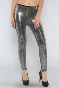 bdaf294b6a742b Silver Sequin Leggings