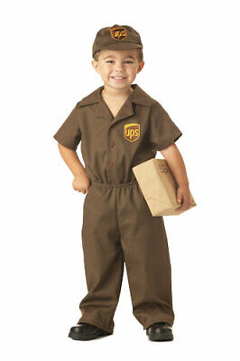 UPS Guy Toddler  Kids Halloween Costume - Halloween Costume Brown Guy