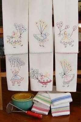 Bird Brain Designs KITCHEN HELPERS TEA TOWELS Stitchery Pattern BBD464