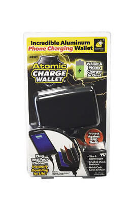 """Atomic Charge Wallet & Phone Charger ALL-IN -ONE- (NEW) """"BLACK"""""""