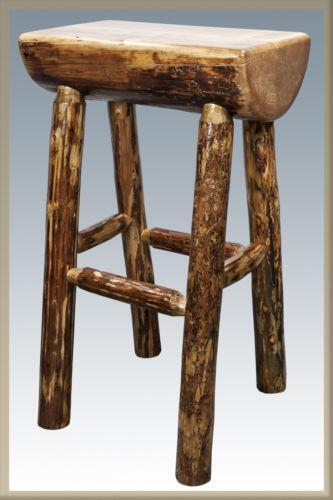 Log Bar Stools Ebay