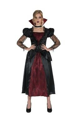 Womens Vampiress Costume Vampire Scary Vamp Ladies Halloween Fancy Dress Outfit - Ladies Halloween Outfits