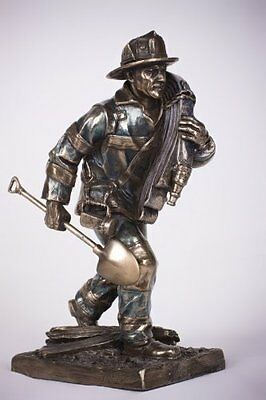 Firefighter Rush to the Scene Figurine Fireman Statue Fire Dept Memorabilia New