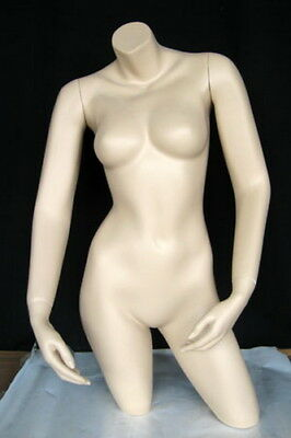 34 In Tall Female Mannequin Torso Body Form Arms Free Standing Skin Tone Ft1ft