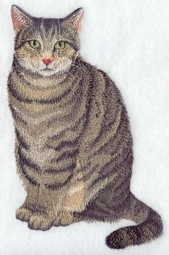 Embroidered Fleece Jacket - Tabby Cat C7941 Sizes S - XXL