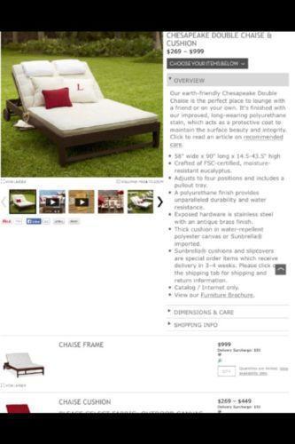 Pottery Barn Chaise Cushion Ebay