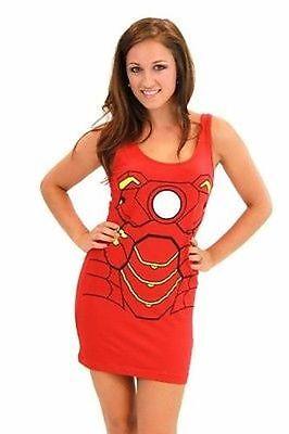 Original Iron Man Tony Stark Marvel Comics Kostüm Junior Tank-Kleid (Original Kostüm Weiblich)